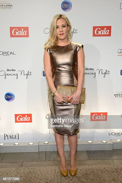 Eva Hassmann attends the Berlin Opening Night Of Gala & Ufa Fiction during the 64th Berlinale International Film Festival at Hotel Das Stue on...