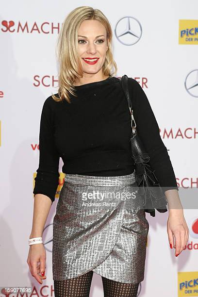 Eva Hassmann attends the 'Der Schlussmacher' Berlin Premiere at Cinestar Potsdamer Platz on January 7 2013 in Berlin Germany