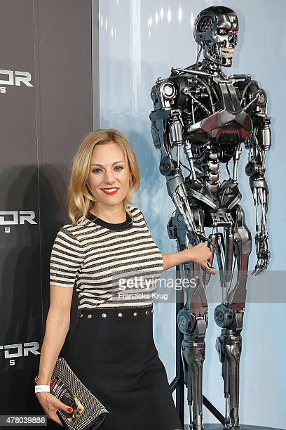 Eva Hassmann attends the European Premiere of 'Terminator Genisys' at the CineStar Sony Center on June 21 2015 in Berlin Germany