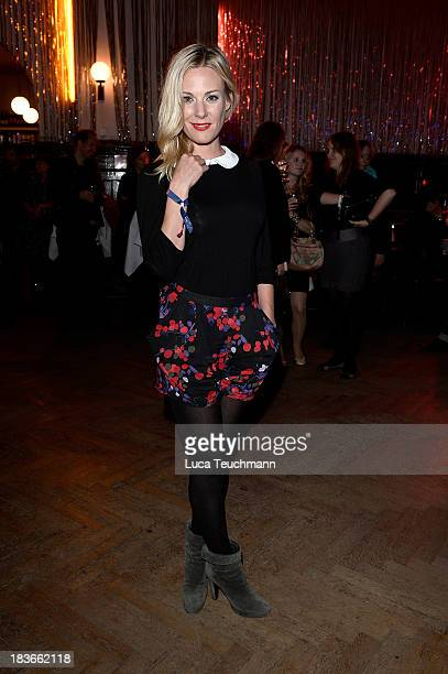 Eva Hassmann attends the 'Frau Ella' Party at Claerchens Ballhaus on October 8 2013 in Berlin Germany