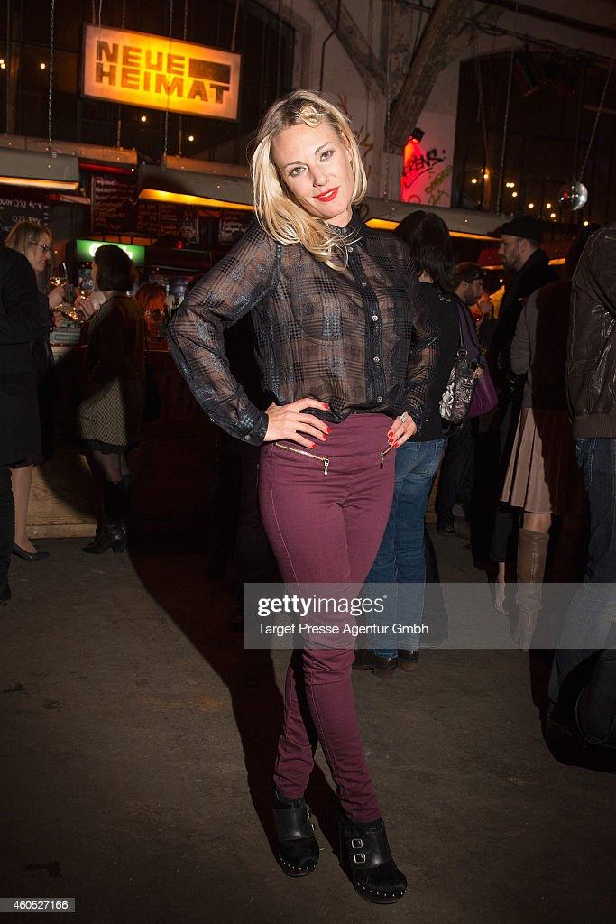 Eva Hassmann attends the 'Honig im Kopf' Premiere party at Neue Heimat on December 15, 2014 in Berlin, Germany.