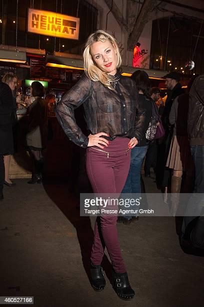 Eva Hassmann attends the 'Honig im Kopf' Premiere party at Neue Heimat on December 15 2014 in Berlin Germany