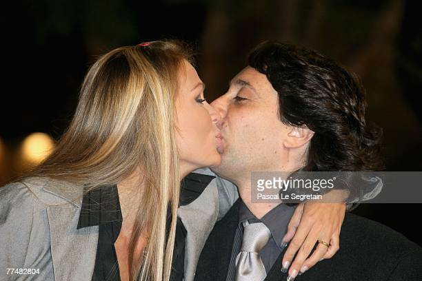 Eva Henger and Massimiliano Caroletti attend a premiere for 'Into The Wild' during day 7 of the 2nd Rome Film Festival on October 24 2007 in Rome...