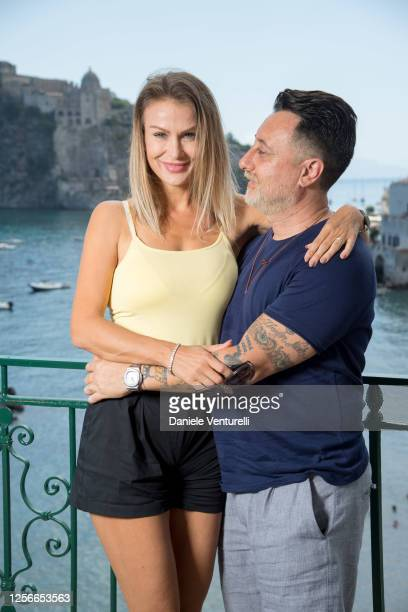 Eva Henger and Massimo Caroletti attend the 2020 Ischia Global Film & Music Fest on July 17, 2020 in Ischia, Italy.