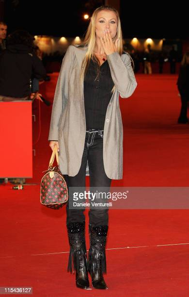 Eva Henger attends a premiere for 'Into The Wild' during day 7 of the 2nd Rome Film Festival on October 24 2007 in Rome Italy