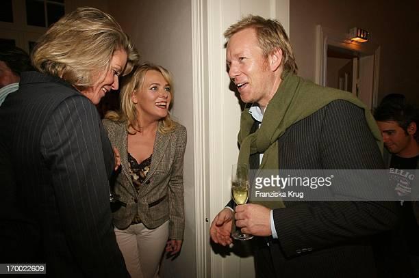 Eva Herman and Johannes B Kerner When TOnline Talk @ Night Medientreff In The Villa At The Elbchaussee in Hamburg