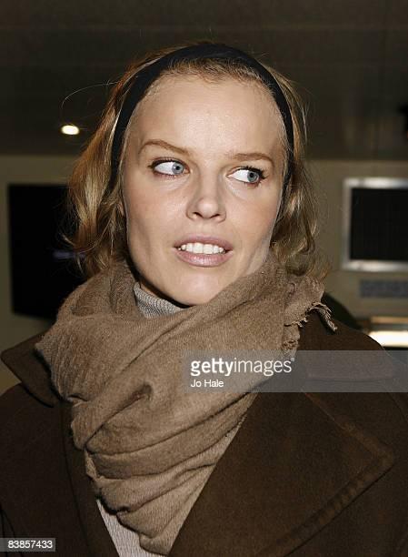 Eva Hertzigova arrived at the UK premiere of Ano Una at Curzon Renoir Cinema on November 29 2008 in London England