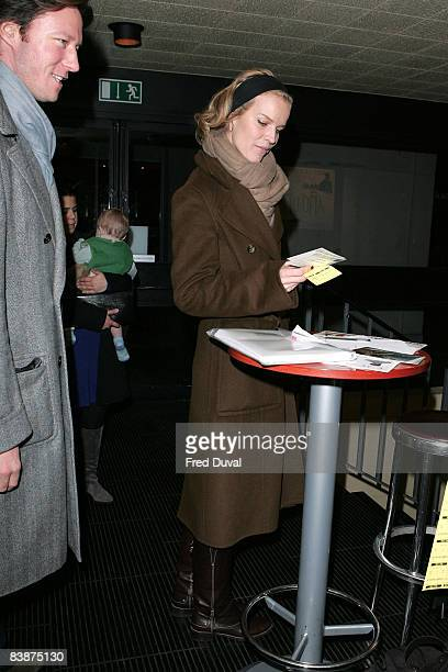 Eva Hertzigova arrives at the premiere of 'Ano Una' at the Curzon Renoir on November 29 2008 in London England