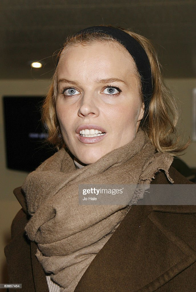 Eva Hertzigova arrives at the UK premiere of Ano Una at Curzon Renoir Cinema on November 29, 2008 in London, England.