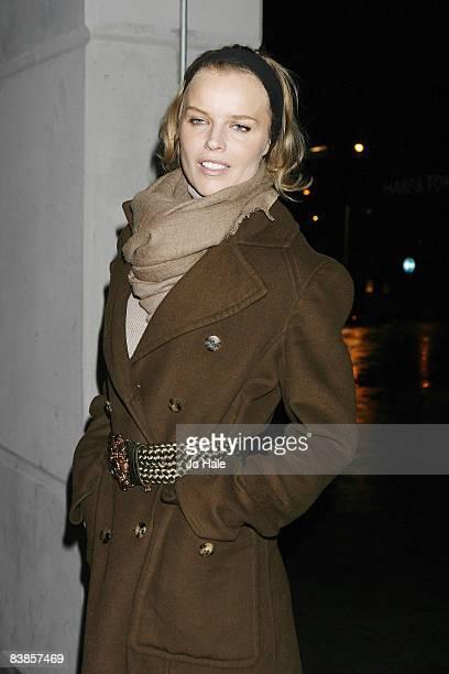 Eva Hertzigova arrives at the UK premiere of Ano Una at Curzon Renoir Cinema on November 29 2008 in London England