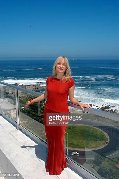 Die Rosenzüchterin Kapstadt/Südafrika/Afrika Hotel Peninsula Schauspielerin Atlantik Atlantischer Ozean Meer Urlaub Balkon Promis Prominente...