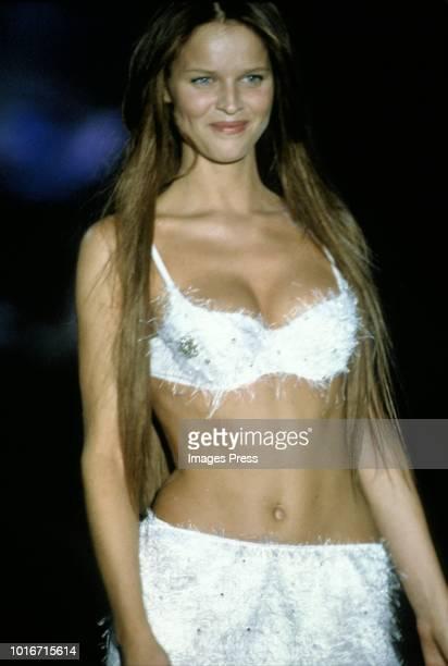Eva Herzigová models Victoria Secrets during circa 1999 in New York