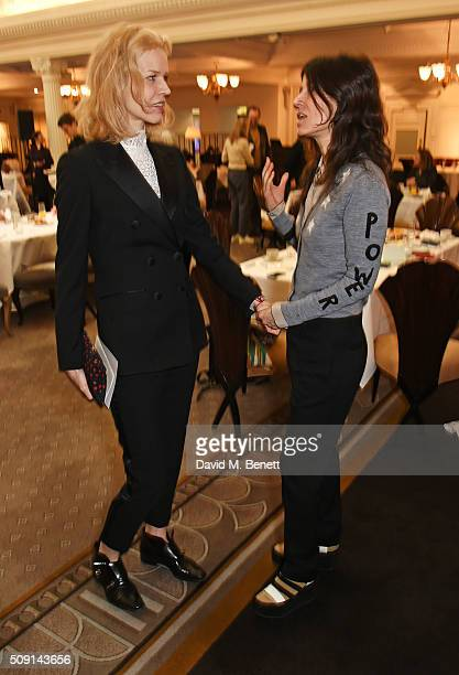 Eva Herzigova and Bella Freud attend the Hoping Breakfast for Palestinian refugee children at Harrods on February 9 2016 in London England