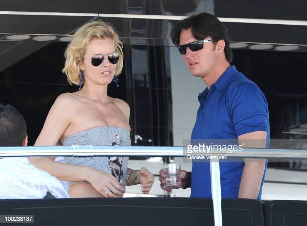 Eva Herzigova and Gregorio Marsiaj are seen attending the 63rd Cannes Film Festival on May 22 2010 in Cannes France