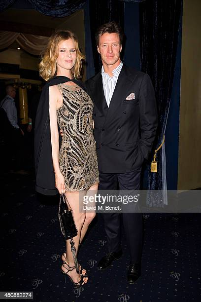 Eva Herzigova and Gregorio Marsiaj arrives at The Hoping Foundation's 'Starry Starry Night' Benefit Evening For Palestinian Refugee Children at Cafe...