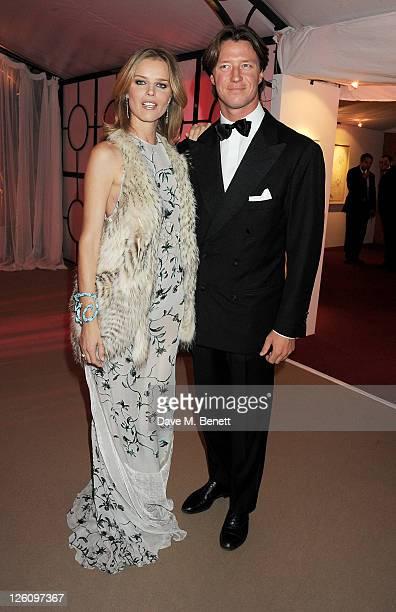 Eva Herzigova and Gregorio Marsiaj attend a champagne reception at the Raisa Gorbachev Foundation Gala held at the Stud House Hampton Court on...