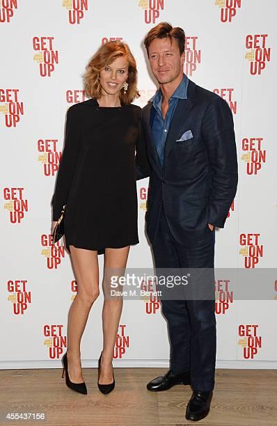 Eva Herzigova and Gregorio Marsiaj attend a special screening of Get On Up at The Ham Yard Hotel on September 14 2014 in London England