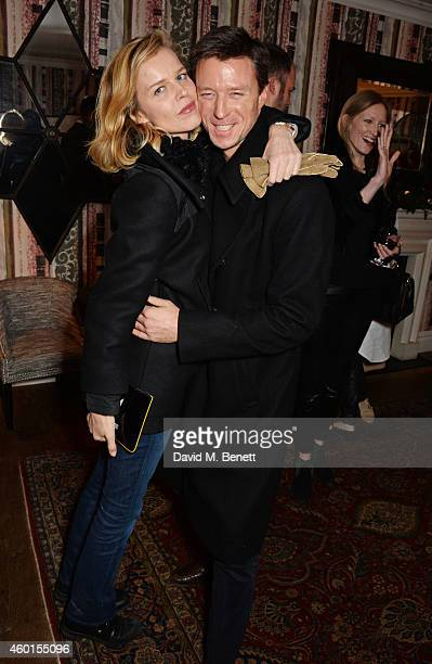 Eva Herzigova and Gregorio Marsiaj attend a VIP screening of St Vincent hosted by Poppy Delevingne at The Covent Garden Hotel on December 8 2014 in...