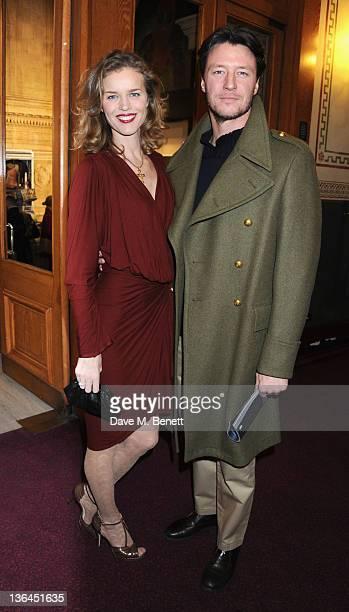 Eva Herzigova and Gregorio Marsiaj attend 'Cirque du Soleil Totem Premiere' at the Royal Albert Hall on January 5 2012 in London England