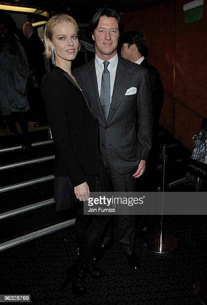 Eva Herzigova and Gregorio Marsiaj attend the A Single Man film premiere at the Curzon Mayfair on February 1 2010 in London England