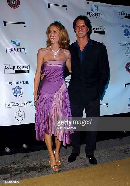 Eva Herzigova and Gregorio Marsiaj during Naomi Campbell Birthday Party Arrivals in Cannes France