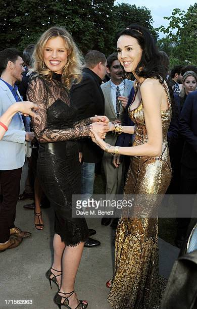 Eva Herzigova and L'Wren Scott attend the annual Serpentine Gallery Summer Party cohosted by L'Wren Scott at The Serpentine Gallery on June 26 2013...