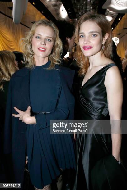 Eva Herzigova and Natalia Vodianova attend the Christian Dior Haute Couture Spring Summer 2018 show as part of Paris Fashion Week on January 22 2018...