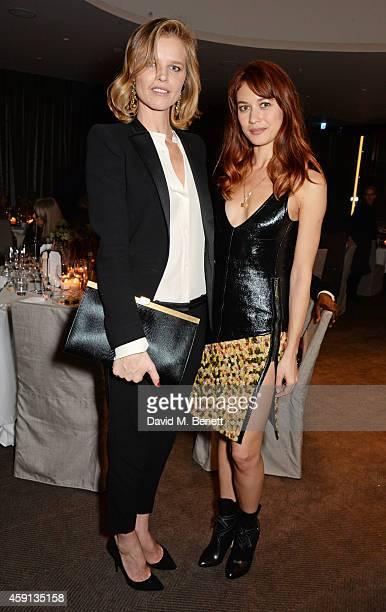 Eva Herzigova and Olga Kurylenko attend the Liberatum Cultural Honour for Francis Ford Coppola at The Bulgari Hotel on November 17 2014 in London...