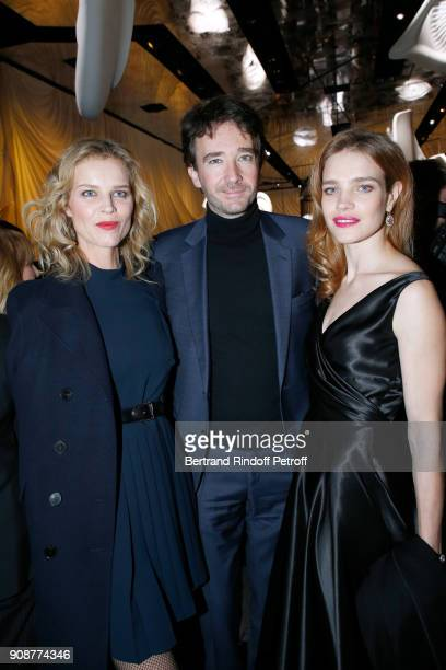 Eva Herzigova Antoine Arnault and Natalia Vodianova attend the Christian Dior Haute Couture Spring Summer 2018 show as part of Paris Fashion Week on...