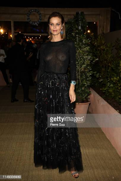 Eva Herzigova arrives at a Dior dinner party during the 72nd annual Cannes Film Festival at on May 15 2019 in Cannes France
