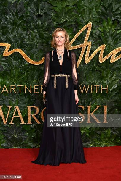 Eva Herzigova arrives at The Fashion Awards 2018 In Partnership With Swarovski at Royal Albert Hall on December 10 2018 in London England