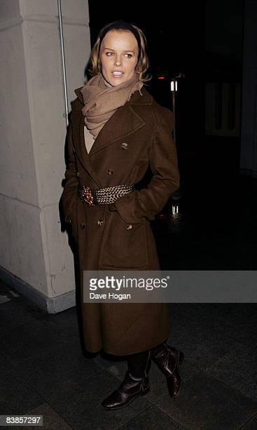 Eva Herzigova arrives at the UK premiere of Ano Una at Curzon Renoir Cinema on November 29 2008 in London England