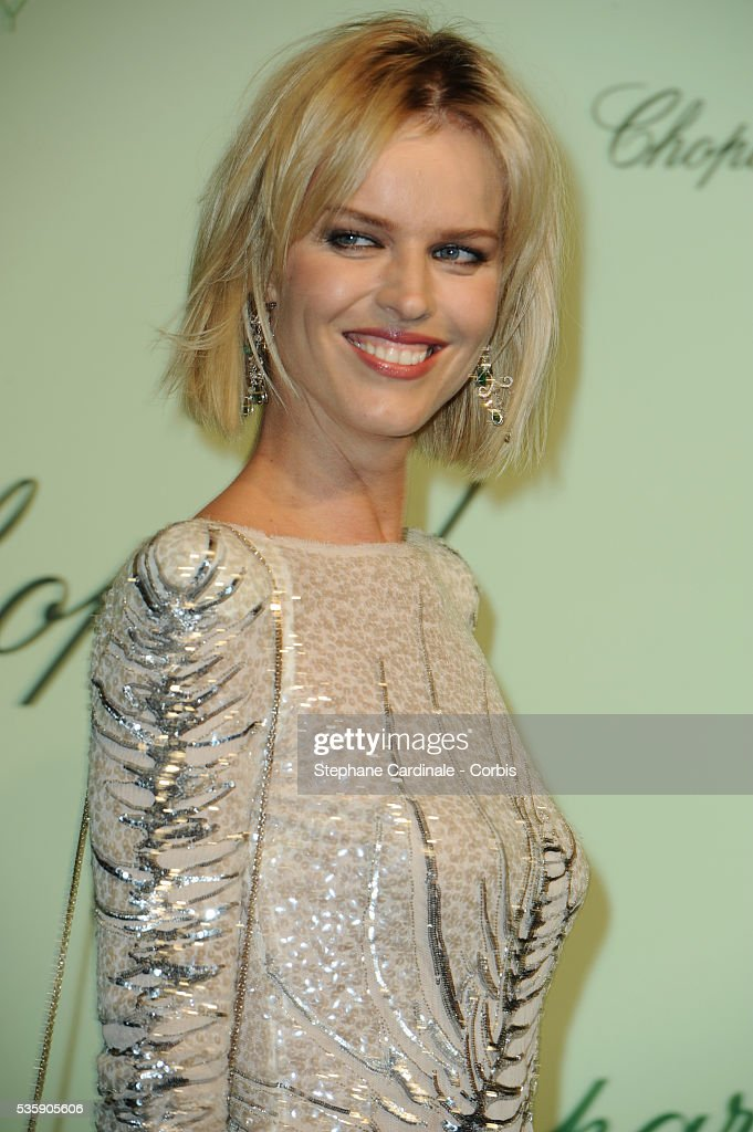 Eva Herzigova at the 'Chopard 150th Anniversary Party' during the 63rd Cannes International Film Festival.