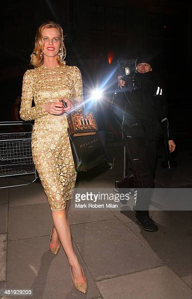 Eva Herzigova attending The Glamour of Italian Fashion 19452014 private dinner at the Victoria Albert Museum on April 1 2014 in London England