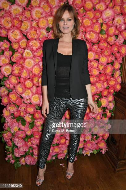 Eva Herzigova attends a private dinner hosted by Michael Kors to celebrate the new Collection Bond St Flagship Townhouse opening on May 9 2019 in...