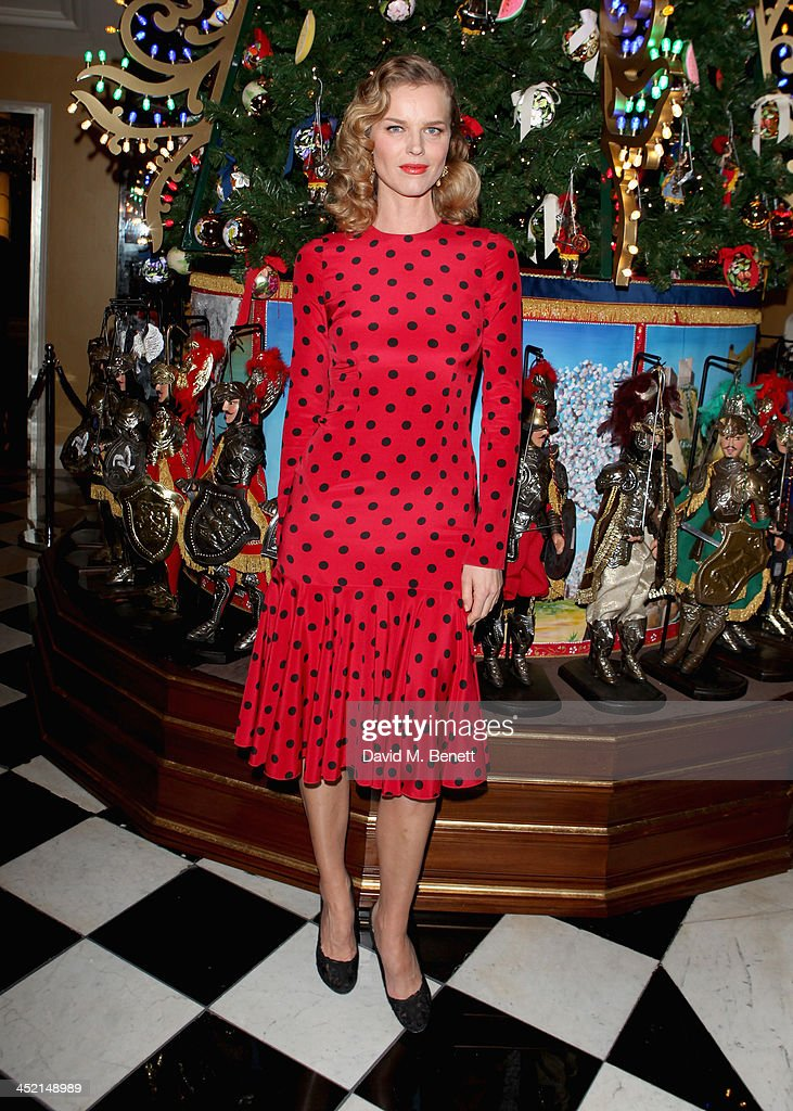 Eva Herzigova attends Claridge's Christmas Tree By Dolce & Gabbana launch party at Claridge's Hotel on November 26, 2013 in London, England.