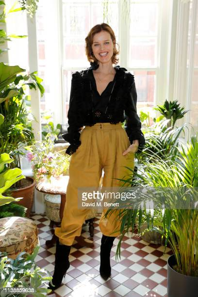 Eva Herzigova attends lunch to celebrate Alberta Ferretti's 'Love Me' collection with Eco-Age at Mr Fogg's House of Botanicals on March 28, 2019 in...