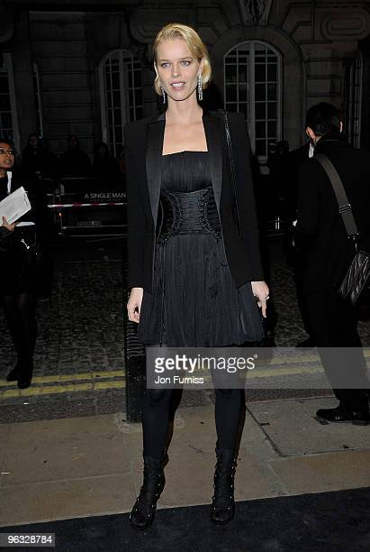 Eva Herzigova attends the A Single Man film premiere at the Curzon Mayfair on February 1 2010 in London England