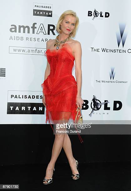 Eva Herzigova attends the amfAR Cinema Against AIDS 2009 show at the Hotel du Cap during the 62nd Annual Cannes Film Festival on May 21 2009 in...