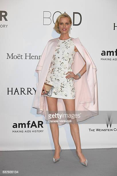 Eva Herzigova attends the amfAR's 23rd Cinema Against AIDS Gala at Hotel du CapEdenRoc on May 19 2016 in Cap d'Antibes