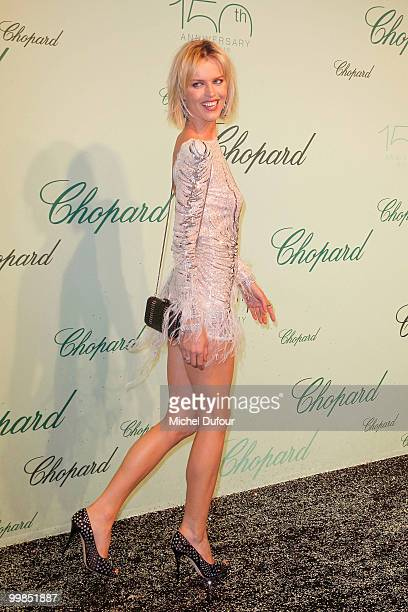 Eva Herzigova attends the Chopard 150th Anniversary Party at Palm Beach Pointe Croisette during the 63rd Annual Cannes Film Festival on May 17 2010...