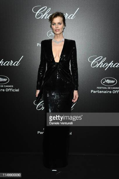 Eva Herzigova attends the Chopard Love Night photocall on May 17 2019 in Cannes France