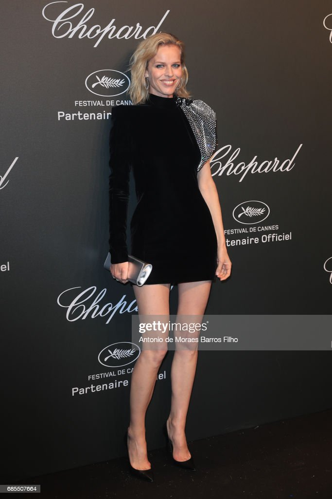 Eva Herzigova attends the Chopard Party during the 70th annual Cannes Film Festival at on May 19, 2017 in Cannes, France.