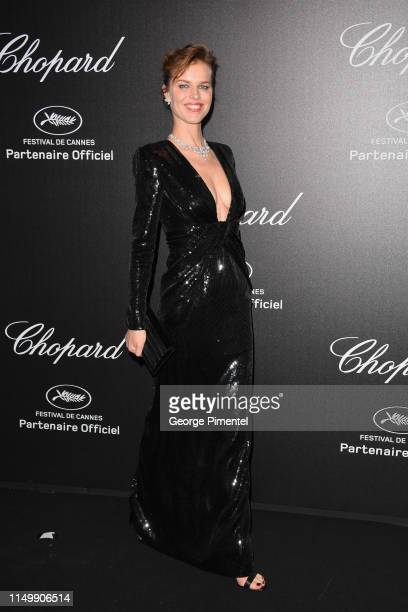 Eva Herzigova attends the Chopard Party during the 72nd annual Cannes Film Festival on May 17 2019 in Cannes France