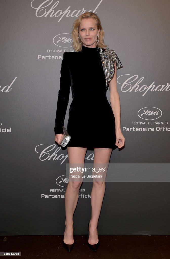 "Eva Herzigova attends the Chopard ""SPACE Party"", hosted by Chopard's co-president Caroline Scheufele and Rihanna, at Port Canto on May 19, 2017, in Cannes, France."