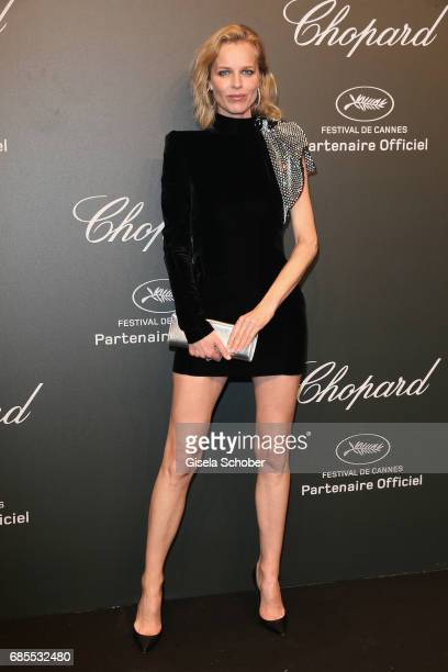 "Eva Herzigova attends the Chopard ""SPACE Party"" hosted by Chopard's copresident Caroline Scheufele and Rihanna at Port Canto on May 19 in Cannes..."