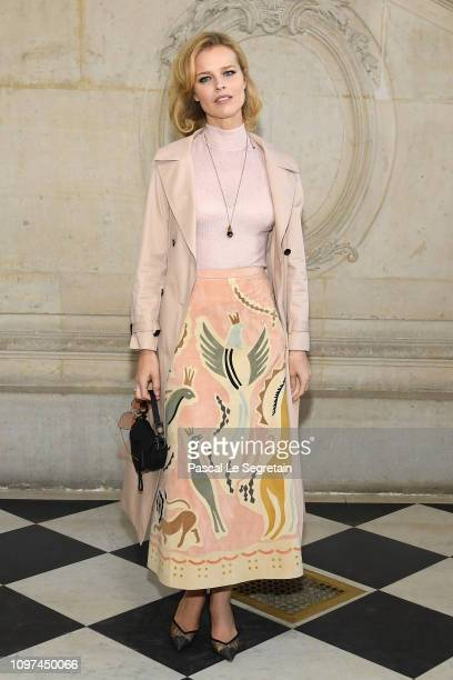 Eva Herzigova attends the Christian Dior Haute Couture Spring Summer 2019 show as part of Paris Fashion Week on January 21 2019 in Paris France