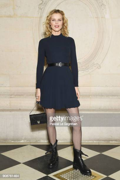 Eva Herzigova attends the Christian Dior Haute Couture Spring Summer 2018 show as part of Paris Fashion Week on January 22 2018 in Paris France