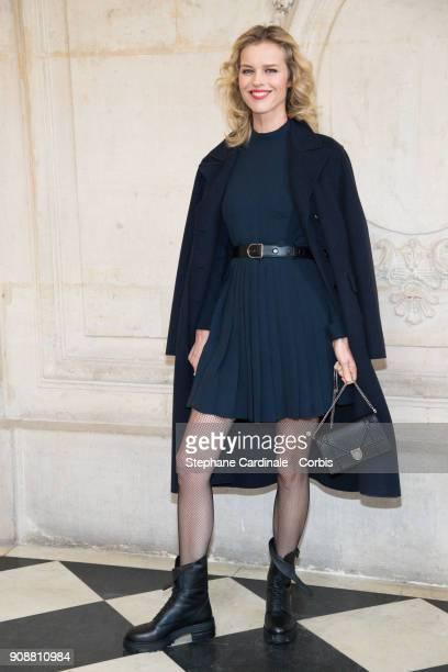 Eva Herzigova attends the Christian Dior Haute Couture Spring Summer 2018 show as part of Paris Fashion Week January 22 2018 in Paris France