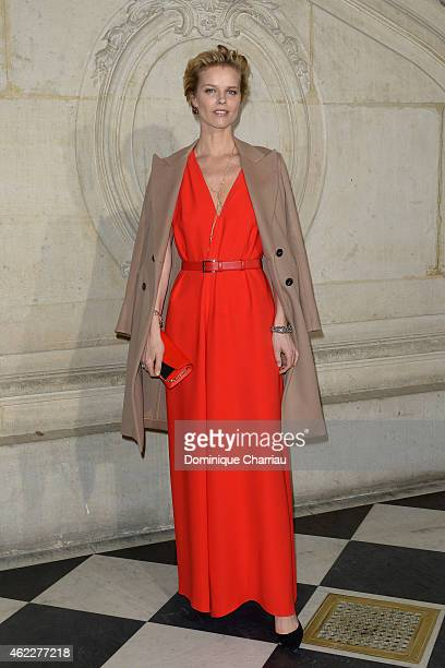 Eva Herzigova attends the Christian Dior show as part of Paris Fashion Week Haute Couture Spring/Summer 2015 on January 26 2015 in Paris France